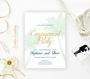 Destination Engagement Party Invitations