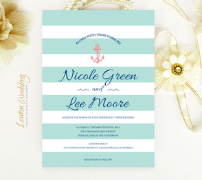 Anchor invitations | Nautical themed