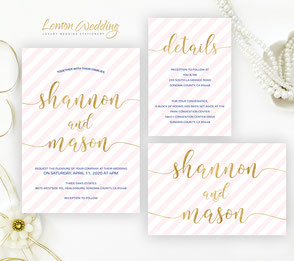 Pink and cold invitations