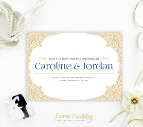 wedding save the dates invitations