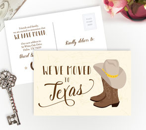 Texas New Home Cards