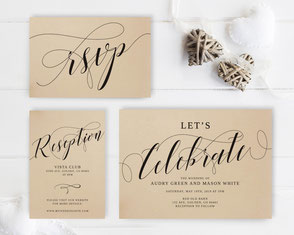 Let's celebrate wedding invitations packs