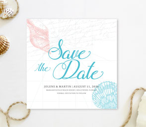Hawaiian save the date invitations