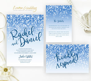 Printed wedding invitation sets