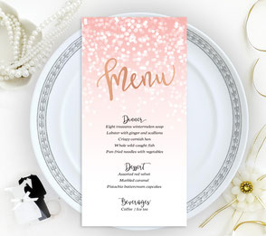 gold seating place cards