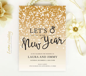 New year's eve wedding invitation