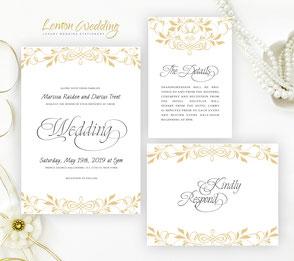 Traditional wedding invitation sets