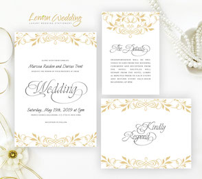 Traditional wedding invitation sets