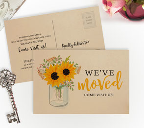 Mason Jar New Home Cards