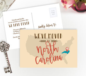 Nort Carolina New Home Cards
