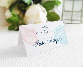 destination wedding name cards