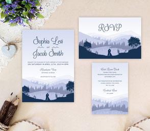 las vegas invitations for destination weddings