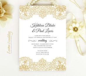 Budget wedding invitations