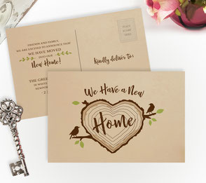 Tree Stump New Home Cards