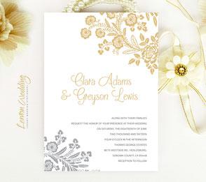Elegant wedding invitations cheap