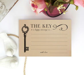 the key wedding advice cards