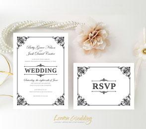 Classic wedding invites
