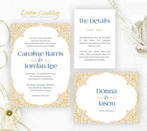 Formal wedding invitation kits
