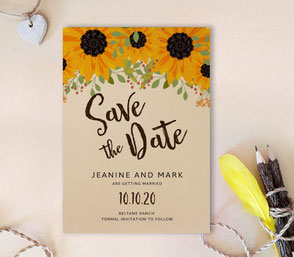 country save the date invitations