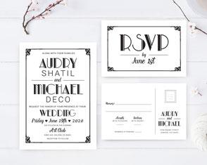 Traditional wedding invitations printed