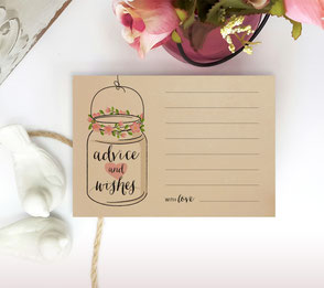 cheap rustic advice cards