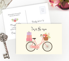 Pink Bicycle New Home Cards