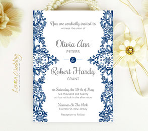 beautiful invitations with lace