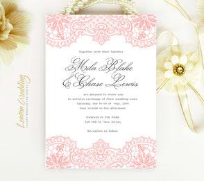 Coral invitations