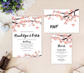 Spring wedding invitation kits