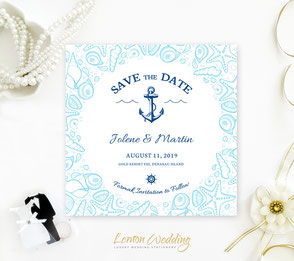 Nautical save the date invitations