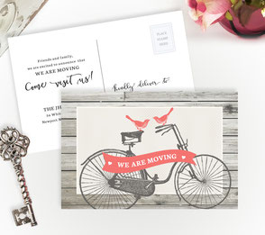 Vintage Bicycle New Home Cards