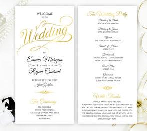 Classic Wedding Programs