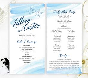 Destination wedding program
