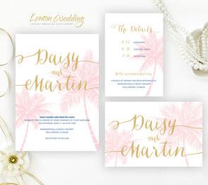Affordable nautical wedding invitations packs