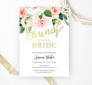 Silver bridal shower invitations