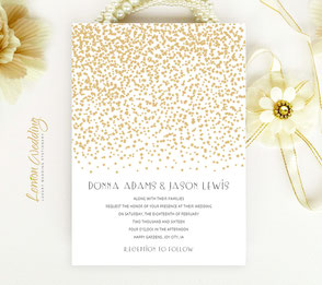 Affordable wedding invitations | Gold invites