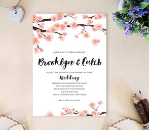 Spring wedding invites