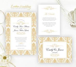 Golden wedding invitation kits