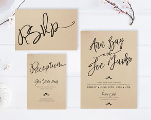Calligraphy font wedding invitations