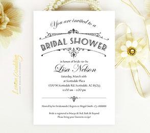 bridal shower invitations cheap