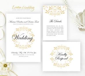 Discount wedding invitation sets