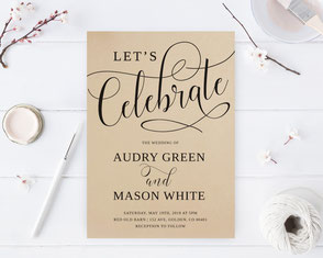 Let's celebrate wedding invites