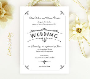 traditional elegant wedding invitations