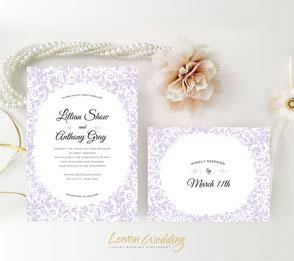 Wedding invitations purple