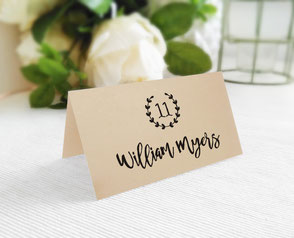 Personalized wedding name cards