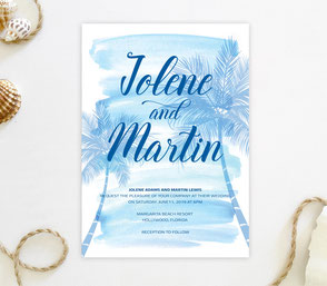 Beach themed invitation