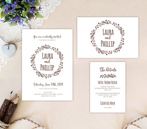 Cheap wedding invitation suite