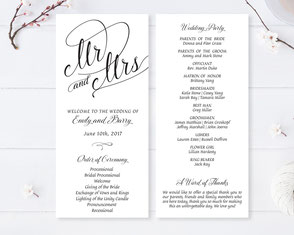 cheap wedding programs printed