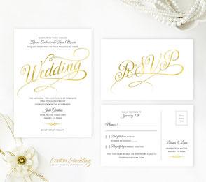 Pink Lace wedding invitation kits