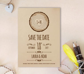 kraft save the date invitations
